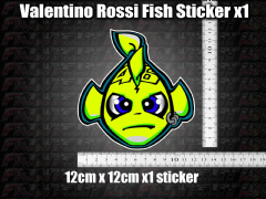 Valentino Rossi Fish Decal Sticker x1 helmet bike car scooter laptop 46 agv GP